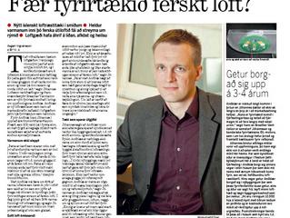Interview in Morgunblaðið