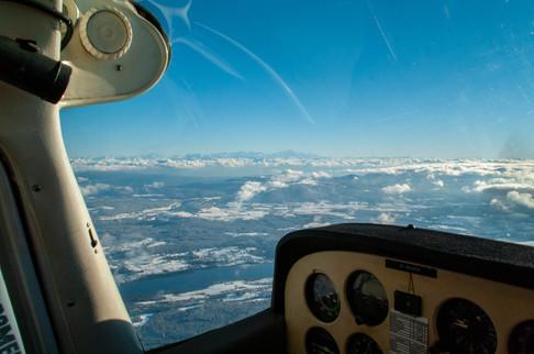 Le Mont Blanc derrière le massif Jurassien