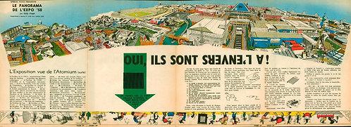 1055   Le panorama de l'expo '58  Paape 1958