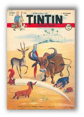 TINTIN 1949 n° 48 couv de J.L Huens, pays or noir
