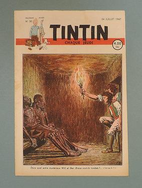 TINTIN 1947 n° 30 couverture de Cuvelier