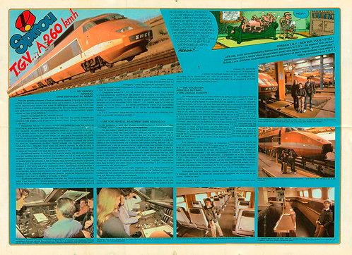 2281 TGV à 260 km/h + Petites annonces Spirou 1981