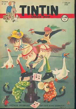 TINTIN 1949 n° 27