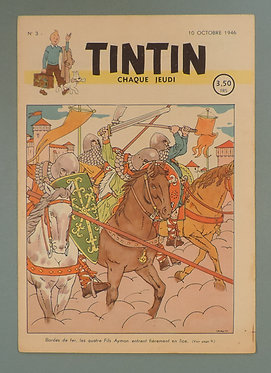 Tintin 1946 n°3 couverture de Laudy TBE