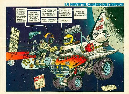 2217   Navette, camion de l'espace Beghin + Petites annonces Spirou1980