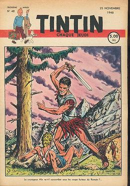 TINTIN 1948 n° 48 couv de J.Martin , pays de l'or noir