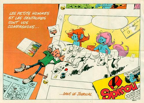 2297 Petits hommes et centaures Seron + Petites annonces Spirou 1982