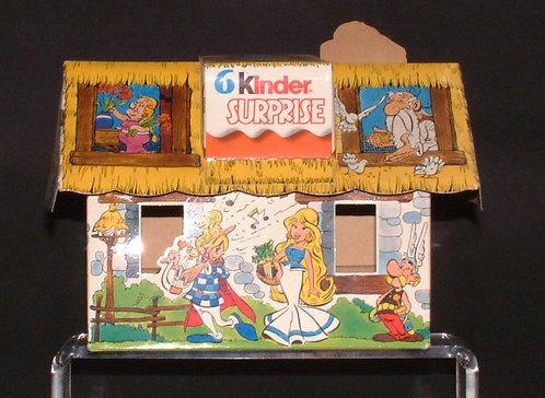 Asterix Uderzo maison Kinder en CARTON 1991