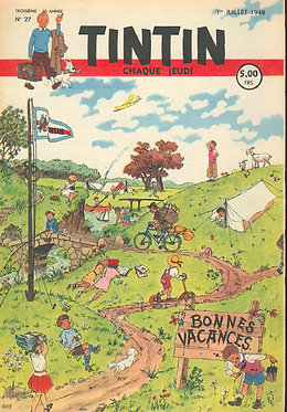 TINTIN 1948 n° 27 couverture Husy