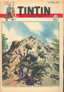 TINTIN 1948 n° 30  couv de Cuvelier , Popol et Virginie