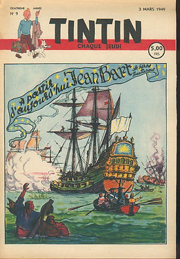 TINTIN 1949 n° 9 couv de Laudy , pays or noir
