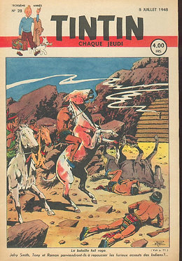 TINTIN 1948 n° 28 couv Le Rallic, Popol et Virginie