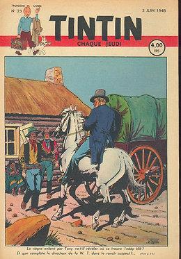 TINTIN 1948 n° 23 couv Le Rallic, Popol et Virginie