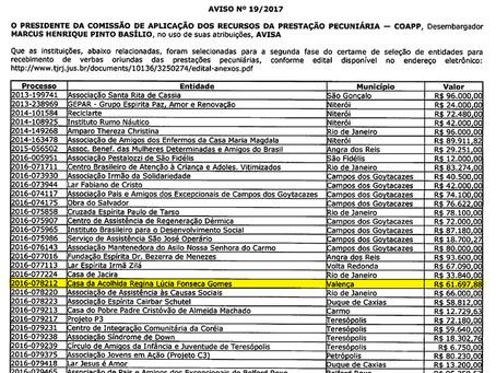 Tribunal de Justiça do RJ seleciona e aprova projeto apresentado pela Casa de Acolhida