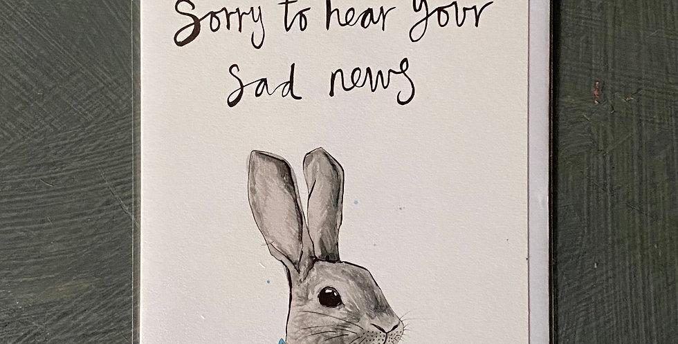 Sad News Card