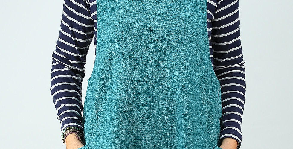 Cross Back Apron - Aubusson/Provence Annie Sloan Linen Union