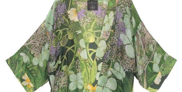 One Hundred Stars Short Kimono - Hydrangea