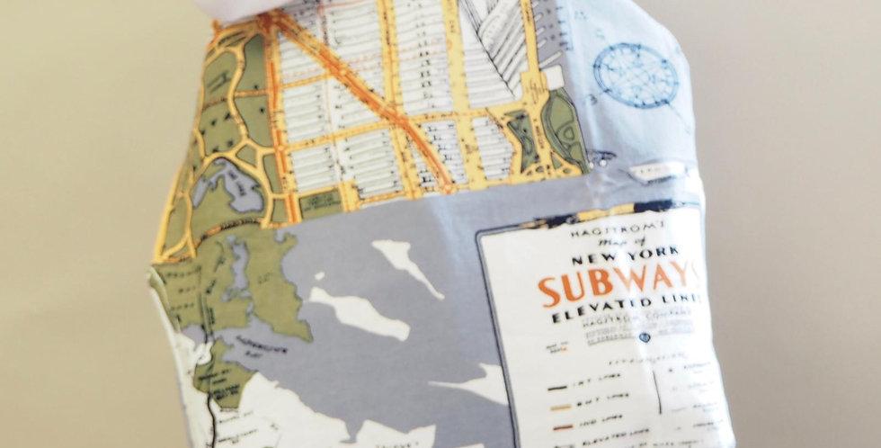 One Hundred Stars - Tote Bag - New York Map