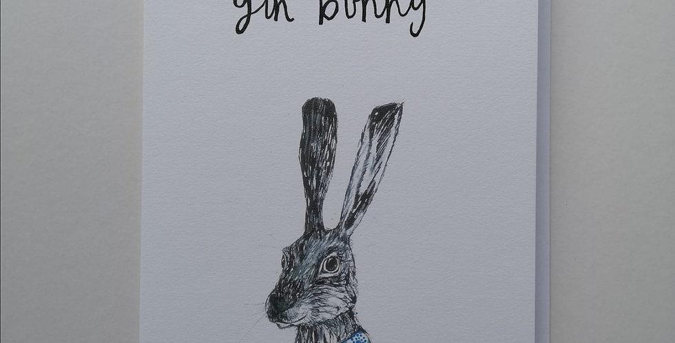 Gin Bunny Card