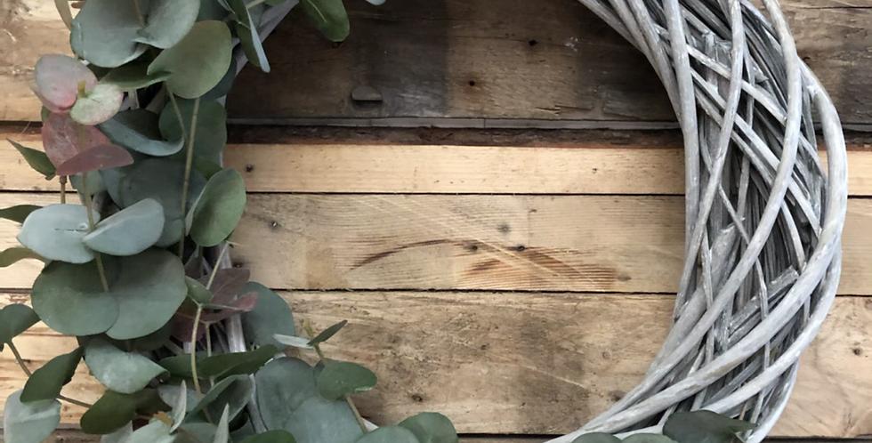 Eucalyptus Washed Wicker Wreath