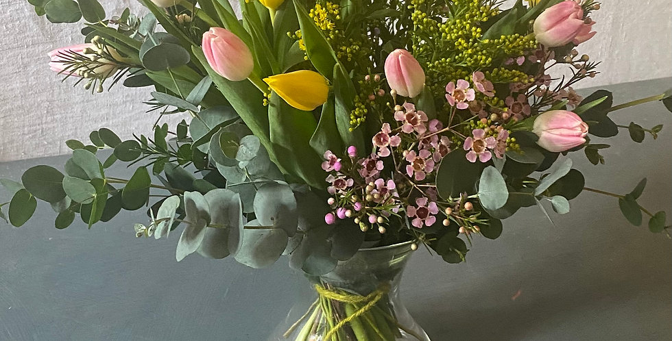 Mother's Day Tulips & Vase - No'3