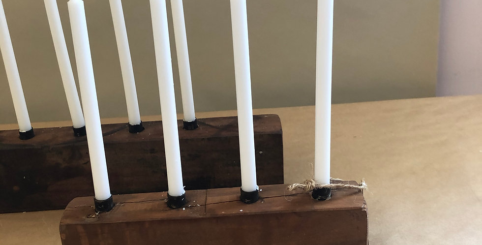 Scandinavian Wooden Candle Holder - Short