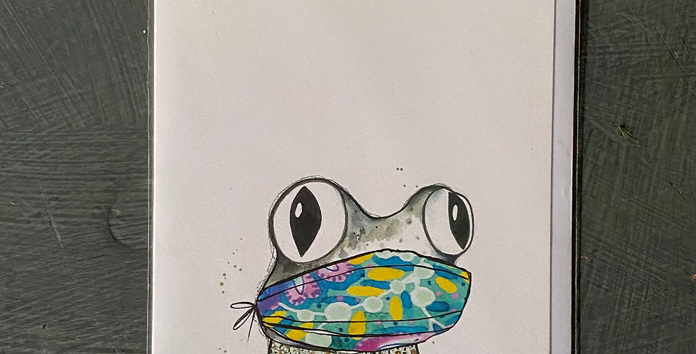 Frog in Mask Card