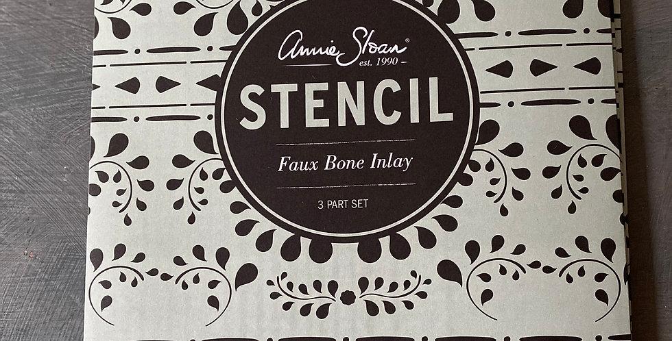NEW Faux Bone Inlay Stencil