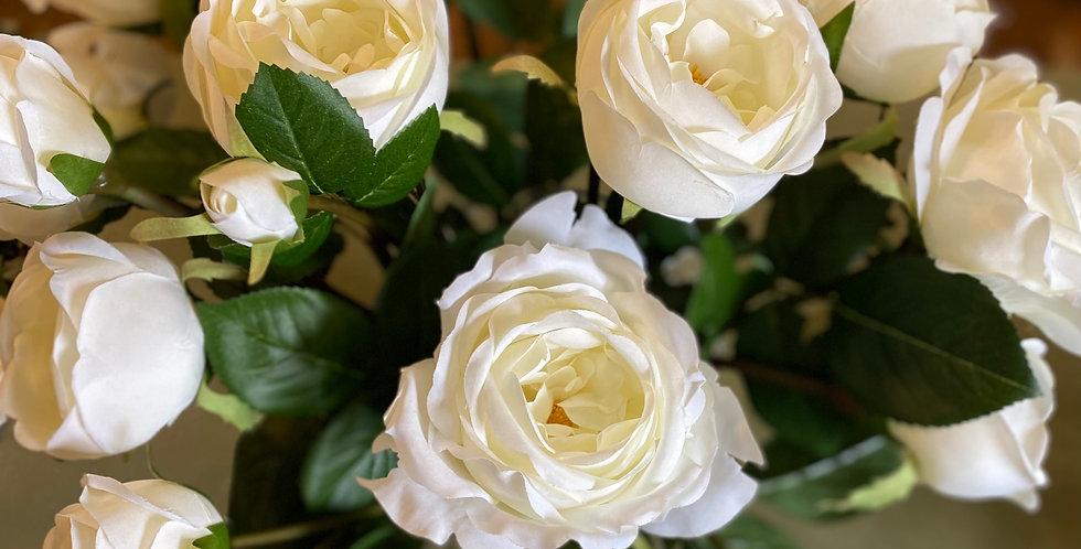 White Rose Vase