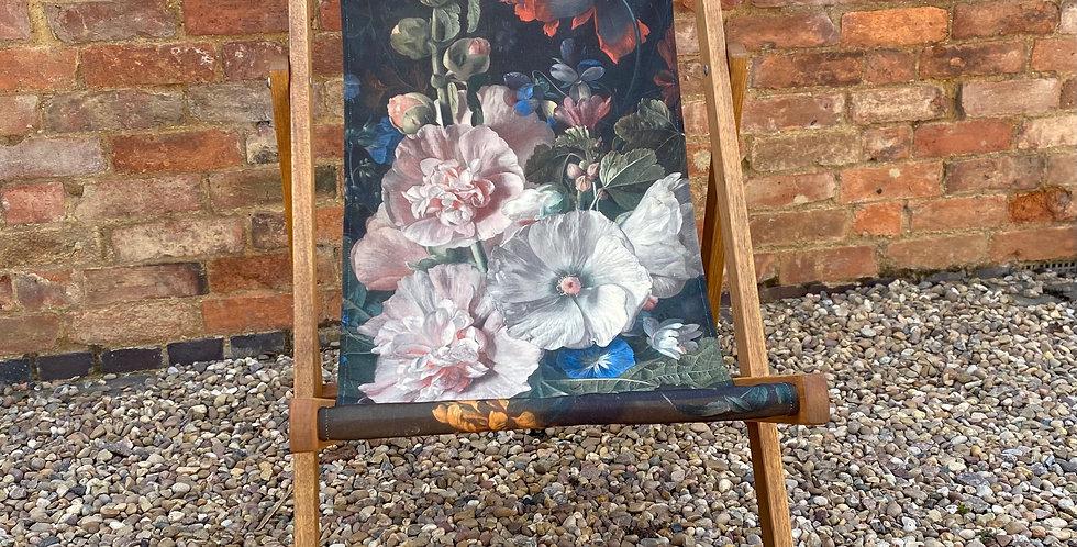 Floral Deckchair - Hollyhock