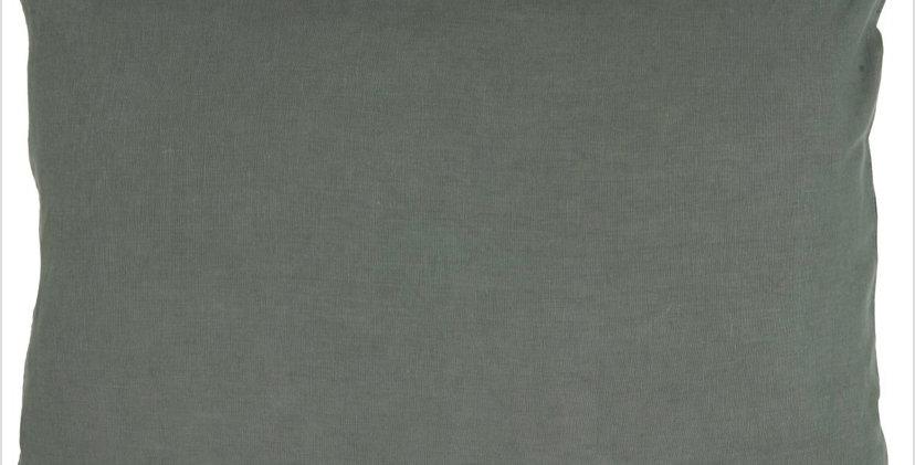 Large Linen Cushion - Dusty Green