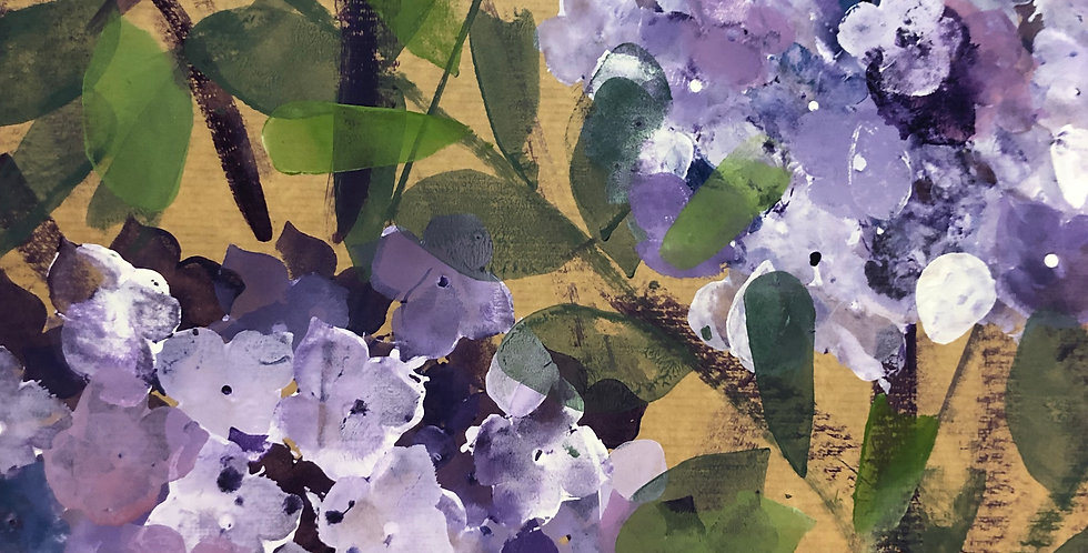 Online Painting & Prosecco Workshop - Hydrangeas
