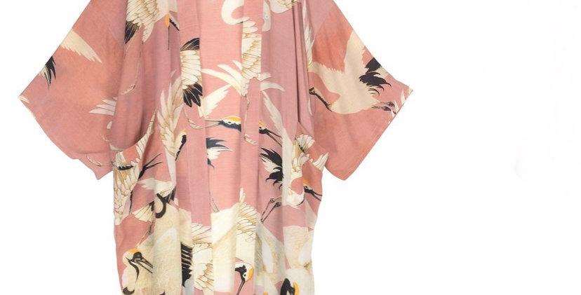 One Hundred Stars Long Kimono - Stork