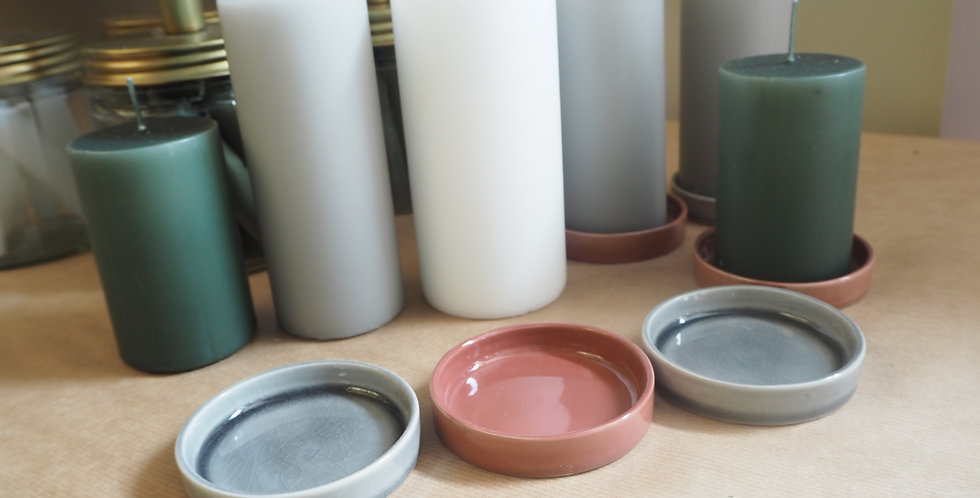 Pillar Candle Dish