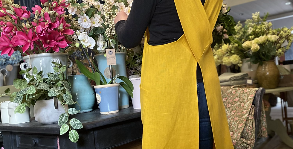 Cross Back Apron - Sunshine Yellow