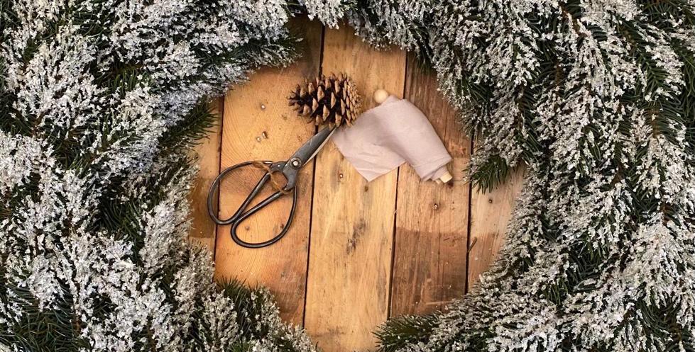 Extra Large Snowy Pine Wreath