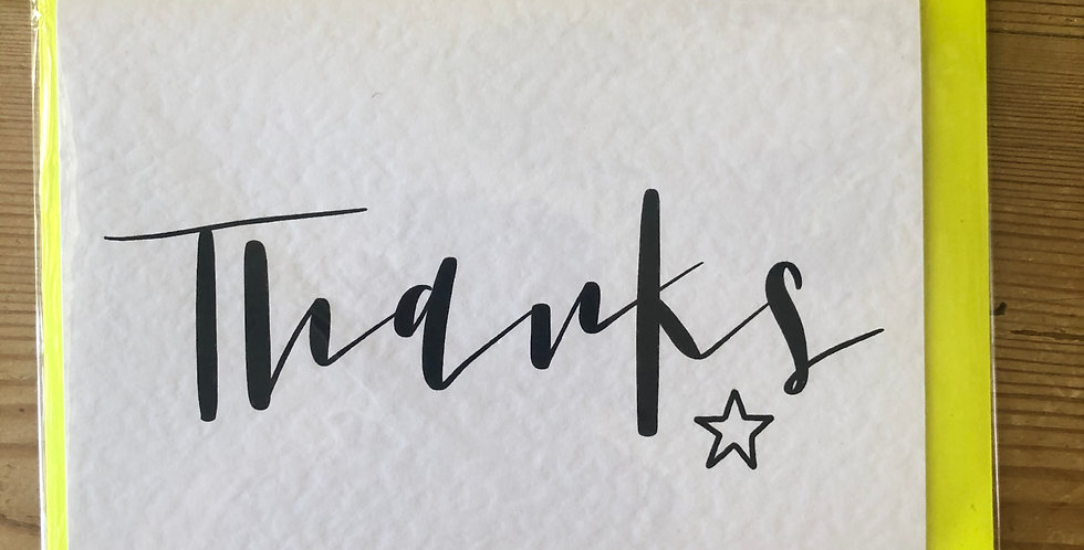 Thanks Calligraphy Card