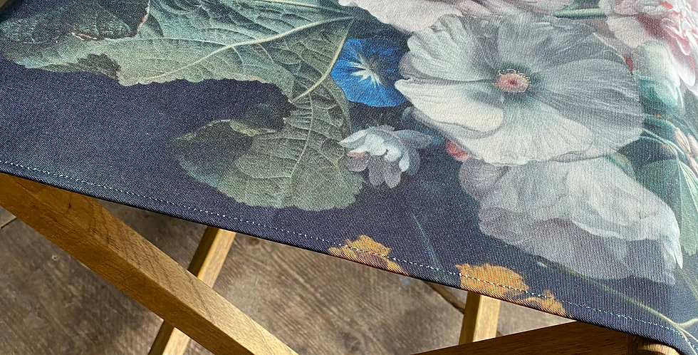 Floral Stool - Hollyhock