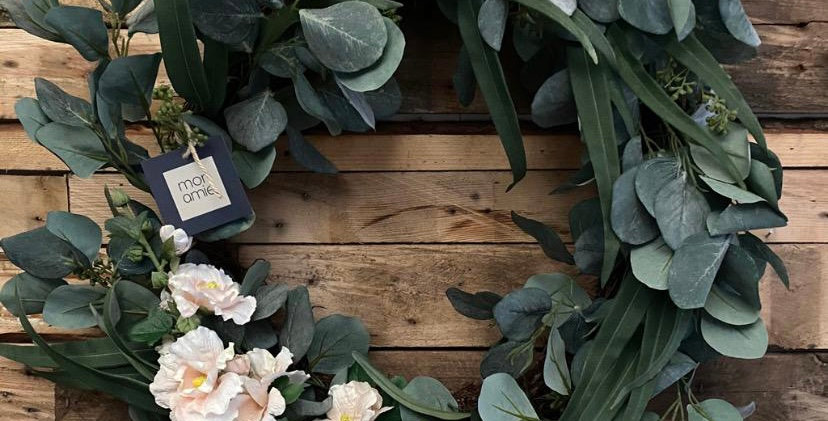 Faux Spring Eucalyptus Wreath