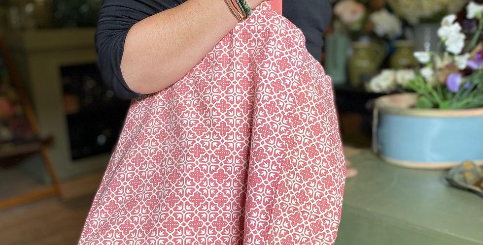 Cotton Tote Bag - Coral