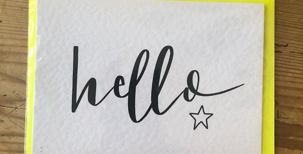 Hello Calligraphy Card