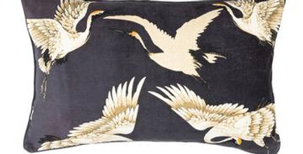 One Hundred Stars - Stork Cushion Navy