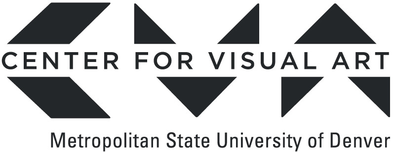 Logo: Center for Visual Art - Metropolitan State University of Denver. (A geometric 'C', 'V', and 'A' with the title going through the middle of the letters.)