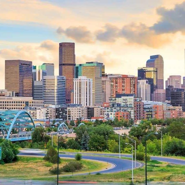 The Denver cityline.