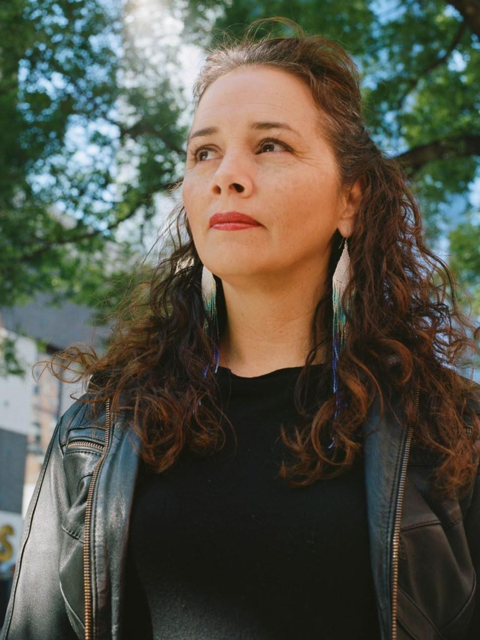 Photo of playwright, Larissa Fasthorse.