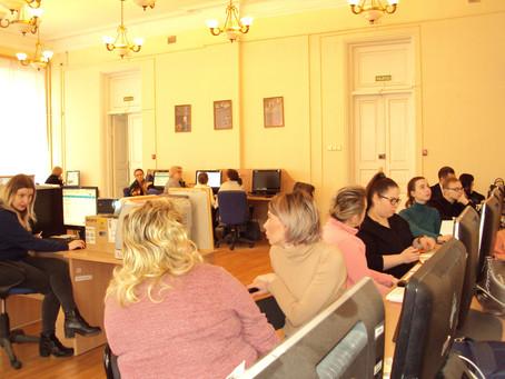 13 февраля слушатели  курсов начали обучение по 2 части программы-внесению в ГИС ЖКХ