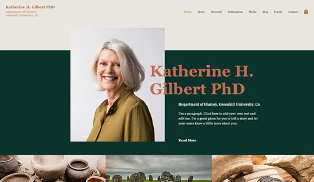Education website templates – Professor