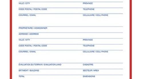 Pochettes Dossier d'activités de vente