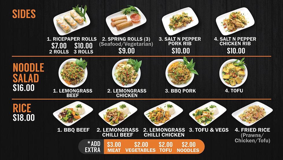 Pho & Go digital menu board shop price c