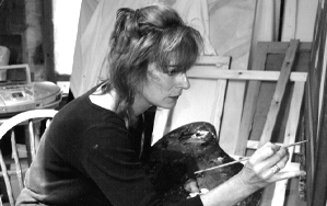 Emma Kennaway at work on a painting Video